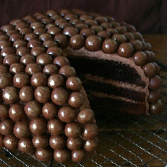 Malted Milk Ball Chocolate Cake Recipe