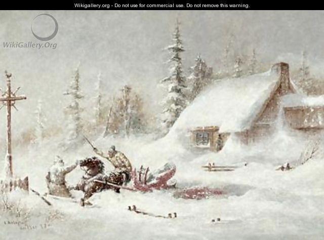 The Blizzard - Cornelius Krieghoff Follow the biggest painting board on Pinterest: www.pinterest.com/atelierbeauvoir