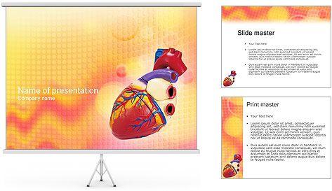 Modelo del corazón Plantillas de Presentaciones PowerPoint y ...