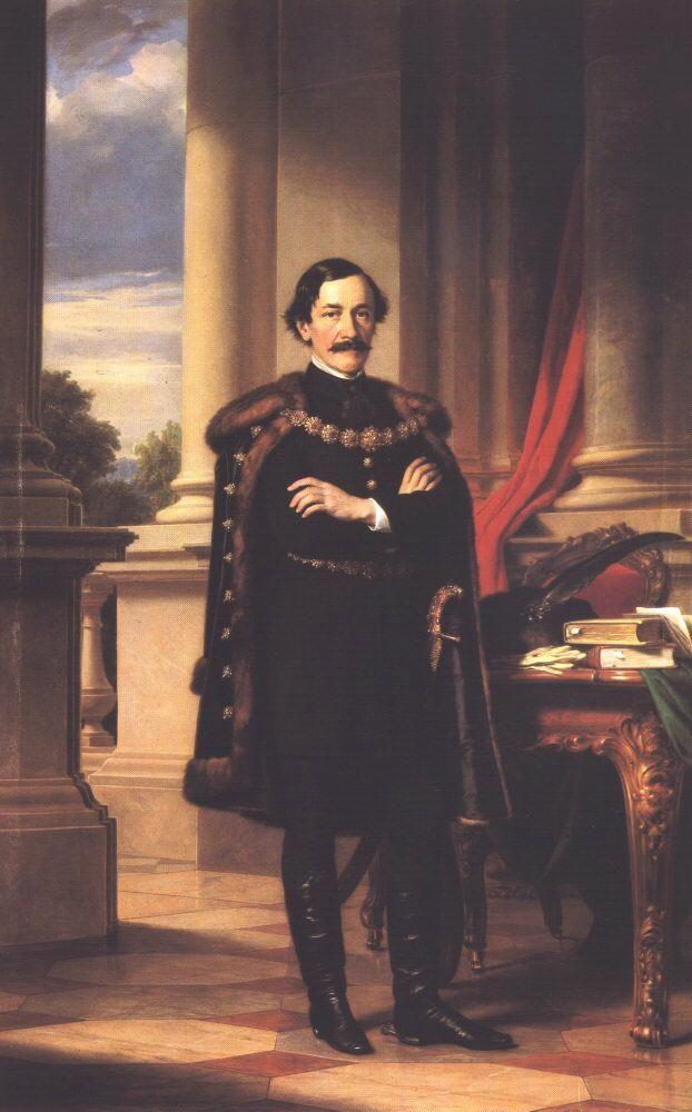 Portrait of László Teleki  by Miklós Barabás