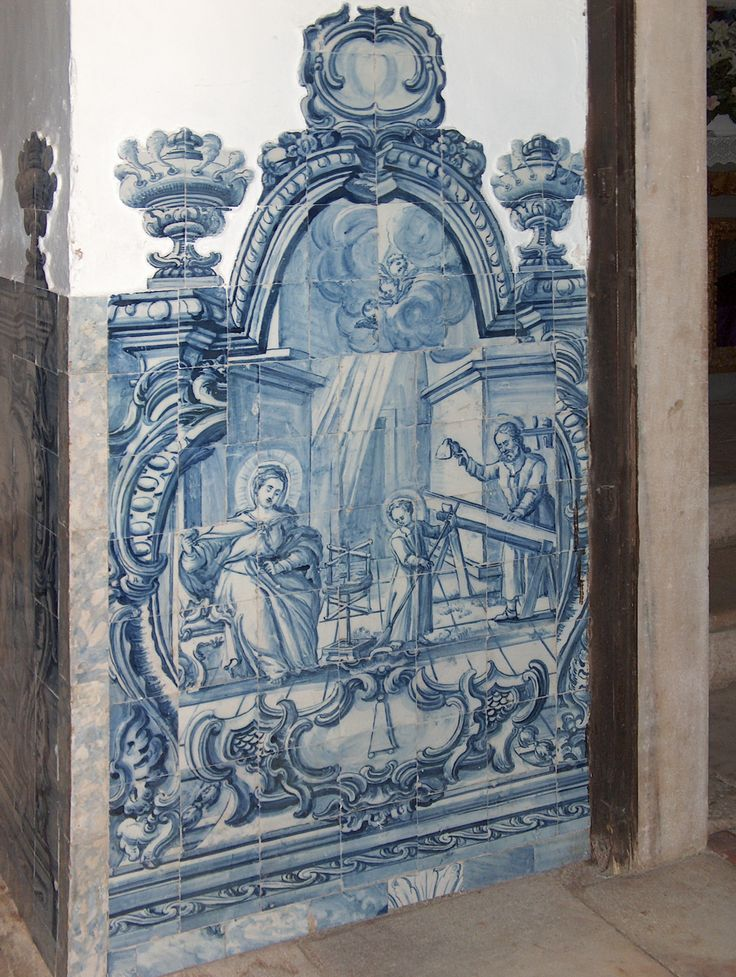 Estremoz | Igreja de / Church of S. Francisco | Capela dos / Chapel of Henriques | 1740-1770 [© Az Infinitum]  #Azulejo #AzulejoDoMês #AzulejoOfTheMonth #Trabalho #Labour #Estremoz