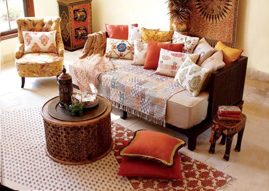 A big fan of such vibrant colors.Orange, rustic red, mustard yellow, olive green.Currently trying to revamp my living room.Us Librans are always striving for a 'harmonious' environment.    Now, if only I can convince the husband that a splash of color won't effeminate him.