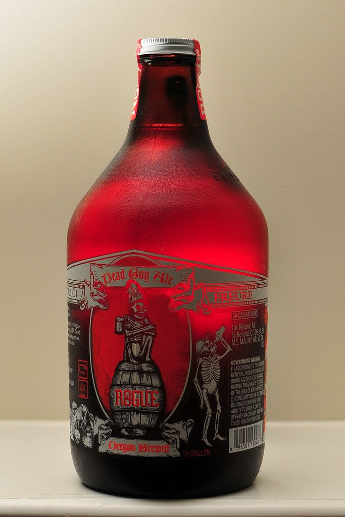 Rogue Dead Guy Ale. No additives, chemicals or preservatives. Brewed in Oregon