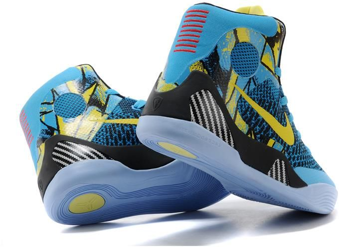 Womens Nike Kobe 9 Shoes Yellow Black Blue1