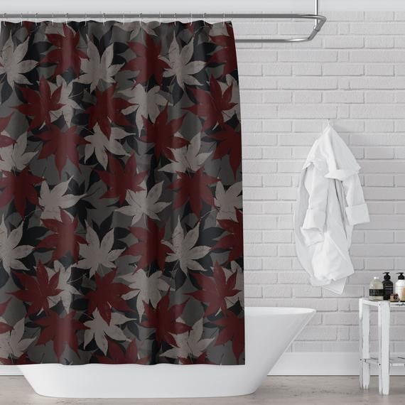 Pin On Red Burgundy Maroon Shower Curtains