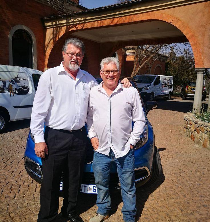 Enjoying an awesome fleet day with Koos Coetzee and Renault SA #cars #renault #fleetday  #renaultsa #avianto #windorpro