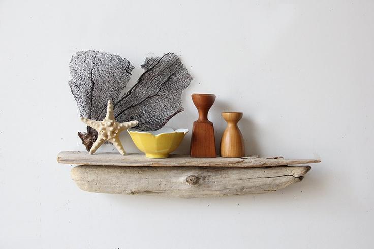 Natural Driftwood Shelf. $64.00, via Etsy.