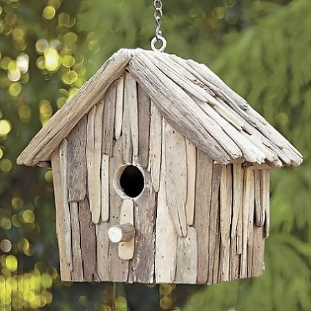 bird house - driftwood... my gramma would LOVE this!!!