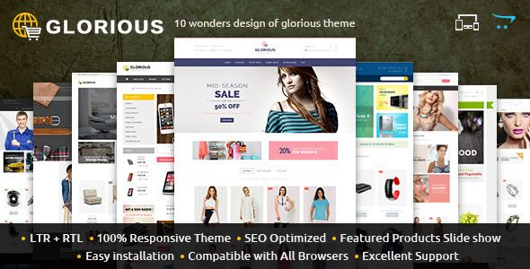 105 best free opencart theme images on pinterest website template img themeforest glorious opencart responsive theme update 24 march 11094931 demo glorious is specially designed for fashion design maxwellsz