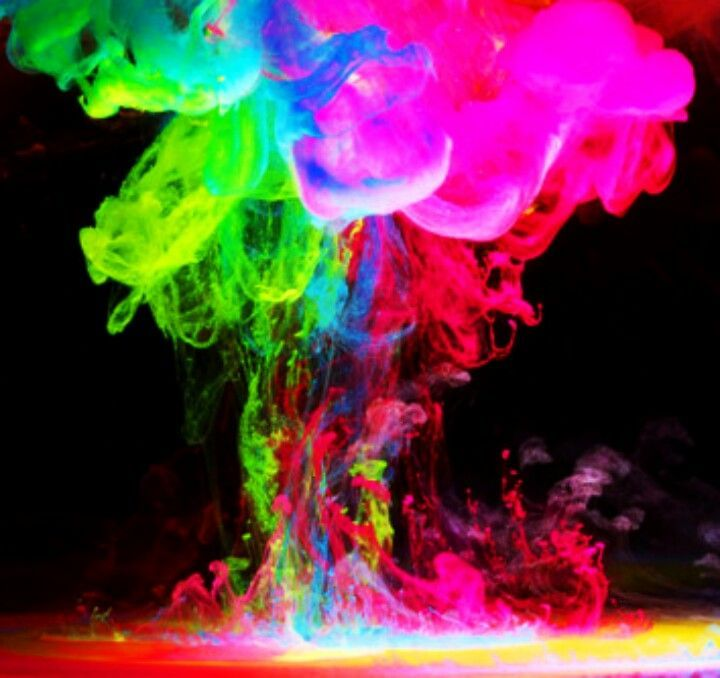 Neon Spray Room Painting