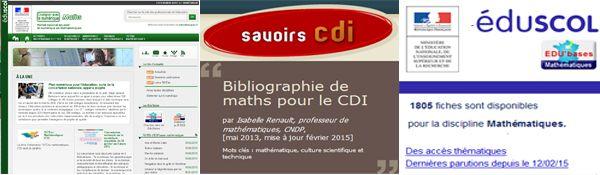 """#Semainedesmaths """"Les mathématiques nous transportent"""" 1 portail, 1 biblio CDI, 1 EDU'Bases"""