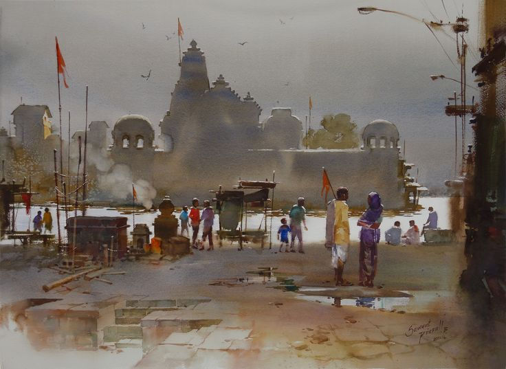 Prafull Sawant | Gray Morning at Nasikghat by Prafull Sawant