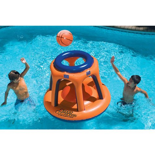 Inflatable Pool Toy Kids Basketball Giant Shootball Water Play Game Fun Durable #InflatablePoolToy