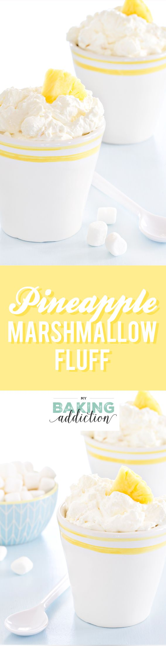 Pineapple Fluff is made with pineapple Jell-o mix and crushed pineapple. So easy and amazing! My family raves about this every single time I make it!