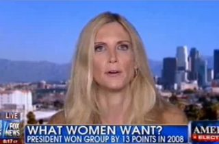 "Coulter explained that ""it's the single women's vote"" which looks to the government ""to be their husbands"" and provide a variety of free services that the Democratic Party generally favors."