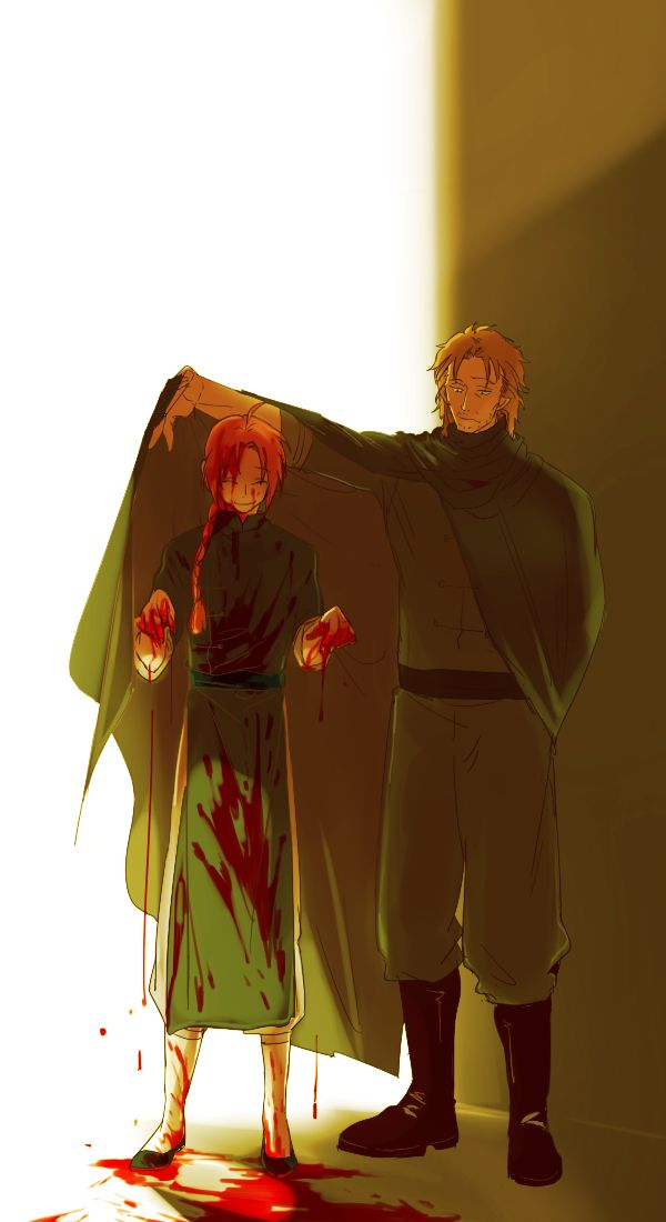 Looking at this photo I got a feeling that Kamui doesn't really enjoy killing.