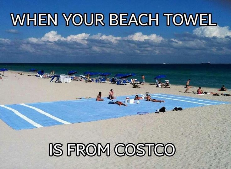 When your beach towel is from Costco.