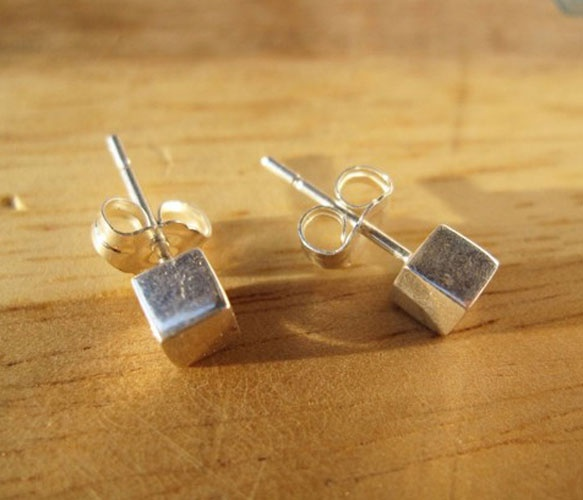 squareCubes Studs, Post Earrings, Squares Studs, Cubes Earrings, Jewelry Freak, Sterling Silver, Accessories, Accesories, Small Cubes