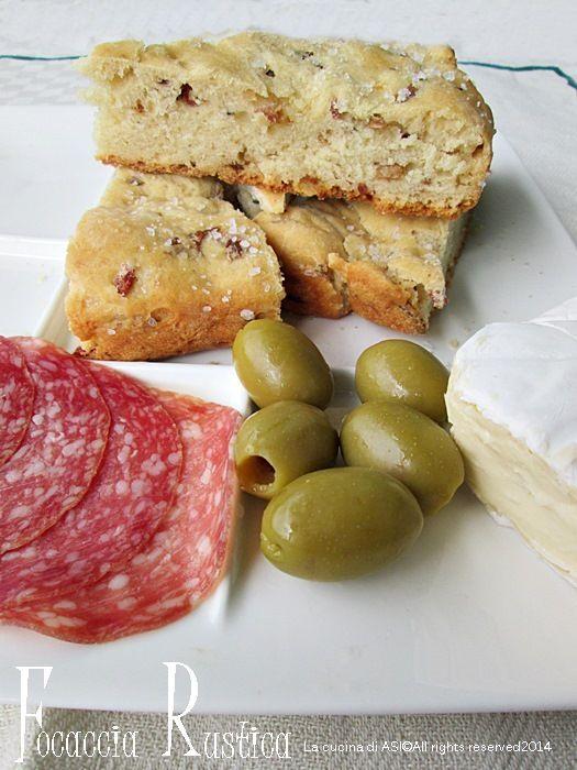 FOCACCIA RUSTICA Ricetta salato