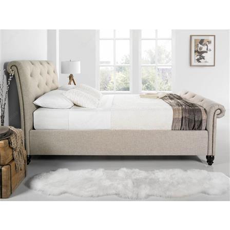 kaydian belford super king bed frame oatmeal choose set