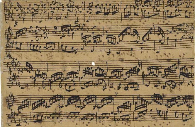"""A music score handwritten by Johann Sebastian Bach and owned by a Japanese music college will be put up for sale at Christie's auction house in London. It is expected to fetch as much as $3 million. Ueno Gakuen in Tokyo's Taito Ward, the current owner of the manuscript, confirmed the musical score, titled """"Prelude, Fugue and Allegro for lute or keyboard in E flat major, BWV 998,"""" will be auctioned on July 13. No Bach manuscript of any kind has appeared at auction since 1968."""