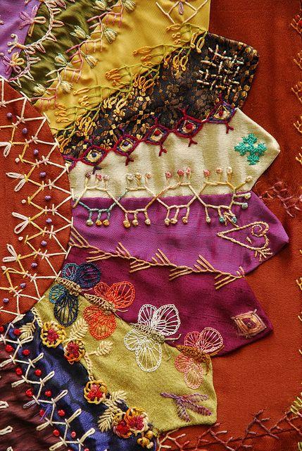 I ❤ crazy quilting . . .    Crazy Quilt by Robyne Melia is Bobby La Para o que sobrar das gravatas do meu Benzo!