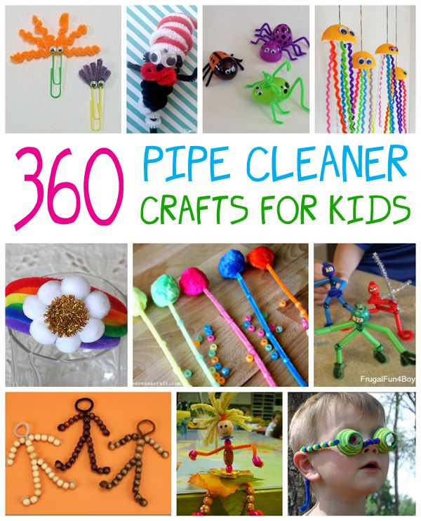 Kids love to create pipe cleaner crafts, and we've collected over 360 ideas to…