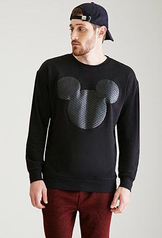 Mickey Mouse Silhouette Sweatshirt | 21 MEN - 2000117461
