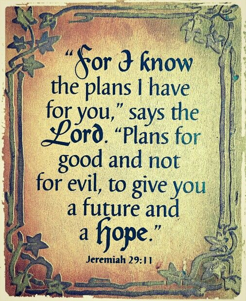 "Bible Am Going To Deliver You: ""For I Know The Plans I Have For You"", Says The Lord"