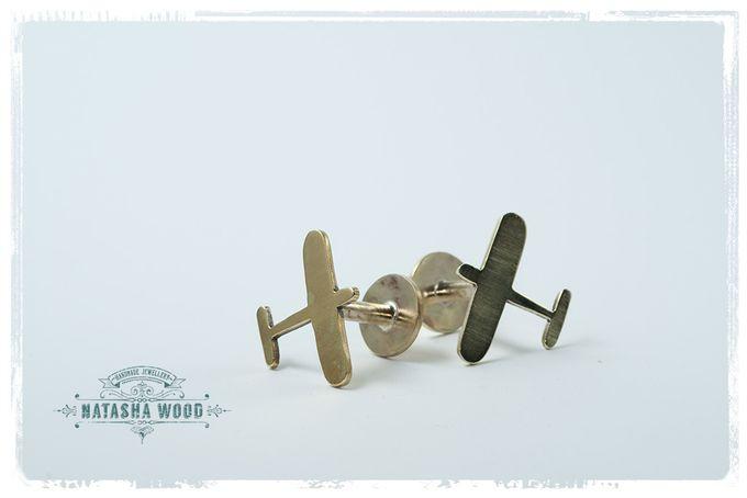 Brass Airplane cufflinks by Natasha Wood Jewellery on hellopretty.co.za