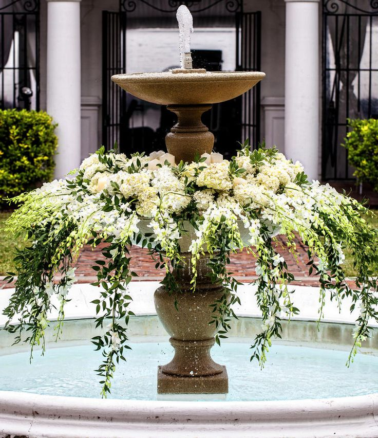 27 best Fountain decor and flowers images on Pinterest Flower