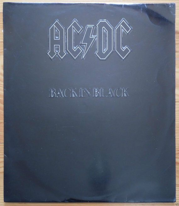 AC DC Back In Black 1980 Portugal Issue Rare by Beats45Records