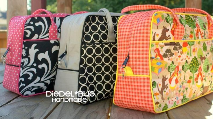 Dorothy Day Tripper Bag Pattern - PDF by pacobean  + How To Make Your Own Piping - BagPattern to buy
