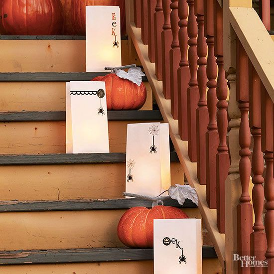 buying clothes online Simple  spider theme luminarias lead the way to Halloween fun  Make the Halloween craft