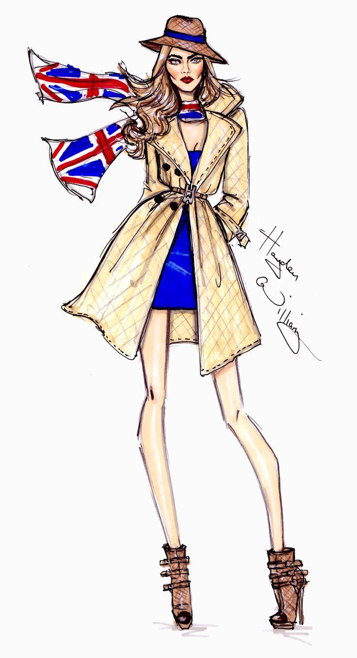 #Hayden Williams fashion Illustrations #'London Calling' by Hayden Williams