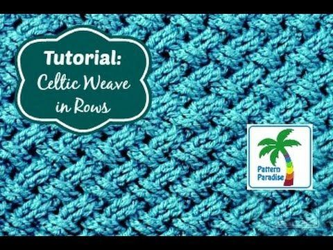 Tutorial: Celtic Weave Stitch in Rows | Pattern Paradise