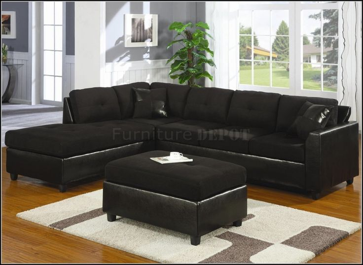 awesome Black Sectional Sofa  Great Black Sectional Sofa 72 In Sofas and Couches Set with : black sectional couch - Sectionals, Sofas & Couches