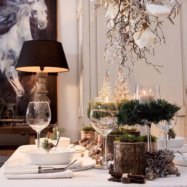 Op een feesttafel kunt u landelijke en eigentijdse elementen gerust met elkaar combineren.