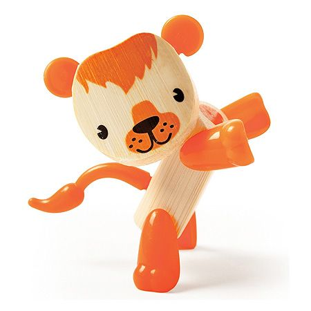 Young Lion is just roarrrring to meet you! Bamboo and eco-friendly animal toys. Fully posable with movable body feartures - legs, tail, ears and nose. Perfect travel size for backpack or purse toy! Makes a great desk pal for the office, too.