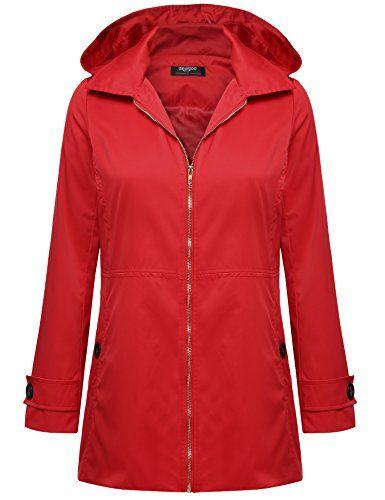 Womens Black Variations Lightweight Waterproof Jacket Hooded Raincoat