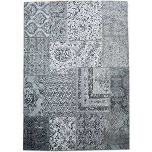 Patchwork vloerkleed grijs - By Boo