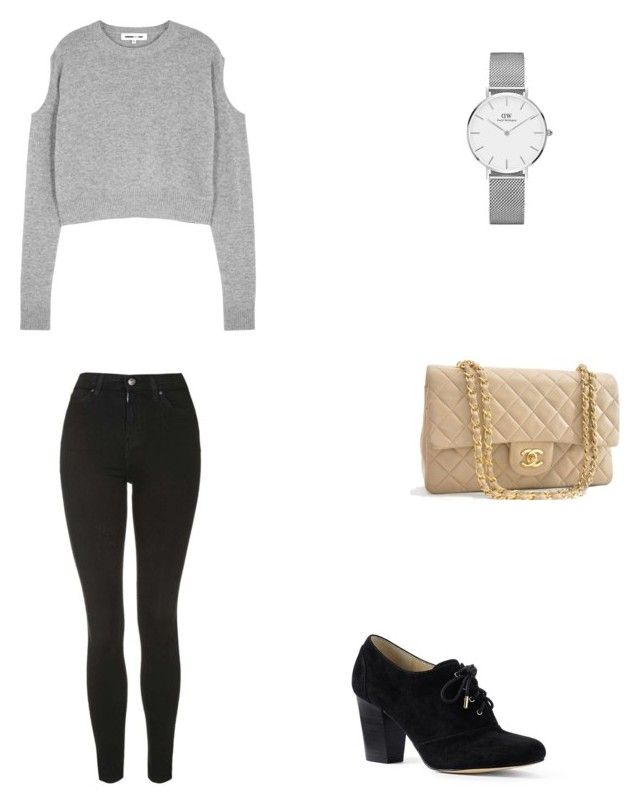 Bez tytułu #83 by wiki208 on Polyvore featuring moda, McQ by Alexander McQueen, Topshop, Lands' End, Chanel and Daniel Wellington