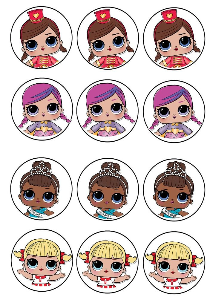 L O L Surprise Cupcake Toppers Lol Dolls Lol Doll Cake Birthday Printables