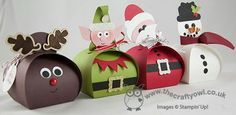 Curvy Reindeer, Elf, Santa, Snowman