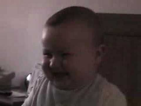 Baby busting-a-gut laughing!  So Freakin' cute!!!