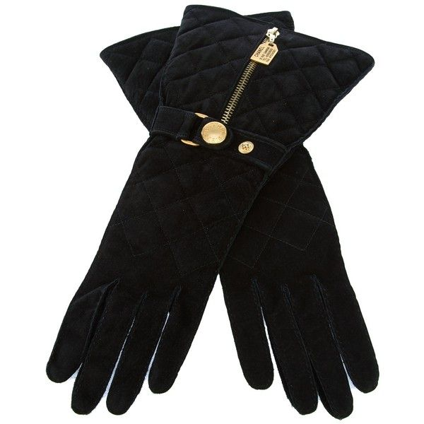 CHANEL VINTAGE GLOVES ($425) ❤ liked on Polyvore featuring accessories, gloves, chanel, gant, suede gloves, black gloves, vintage gloves and quilted gloves