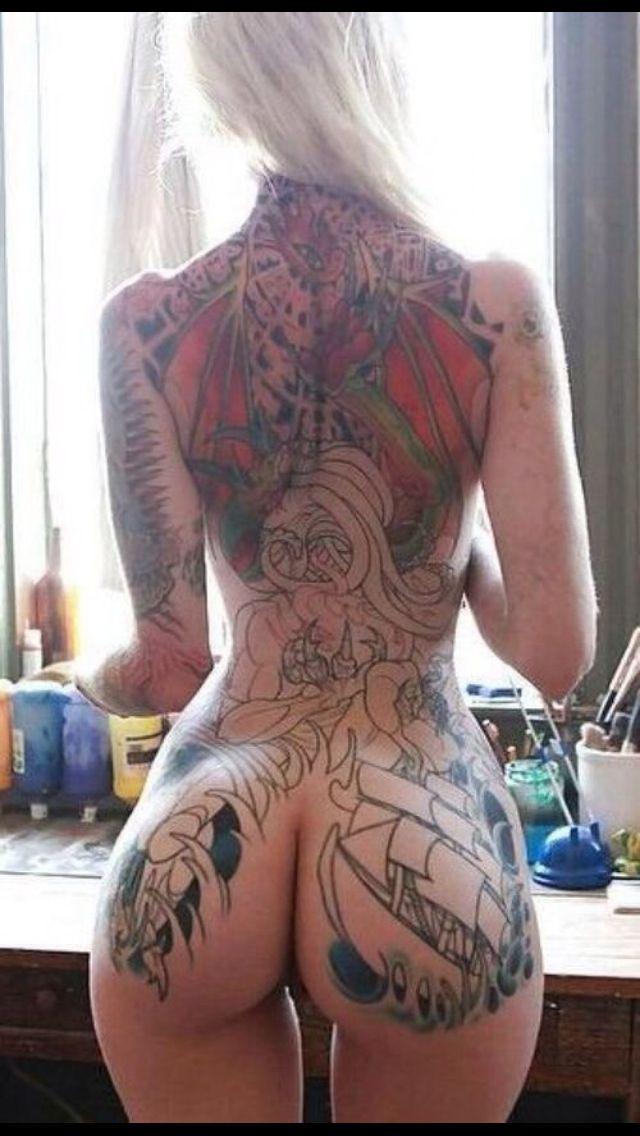 girl tattoo ass