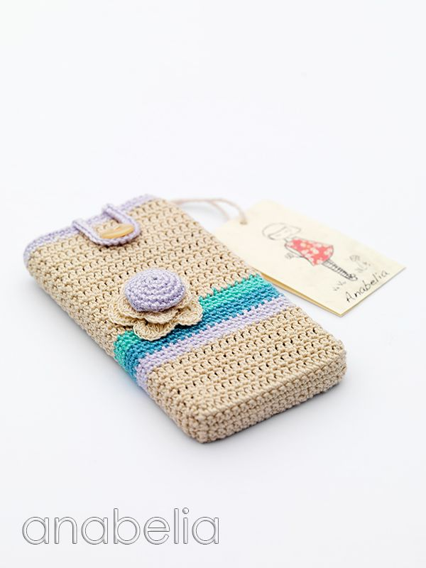 Smart phone crochet cover, inspiration.