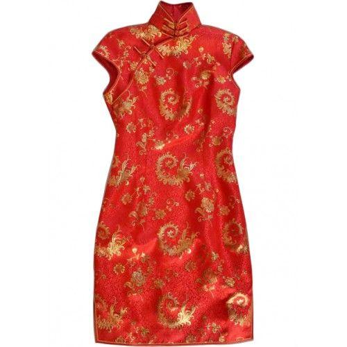 #weddingdress #bridaldress #cheongsam #promdressTailor Made Cap Sleeve Traditional Cheongsam / Chi Pao