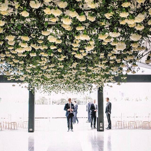 Stunning flower ceiling!
